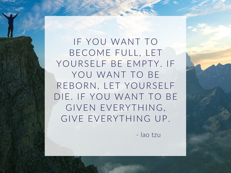 Become Empty to Be Full