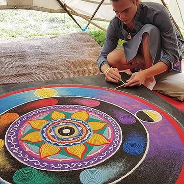 Mandala Sandpainting Art