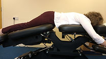 Flexion-Distraction Technique demonstrated at Cruise Chiropractic in Wickham Market.