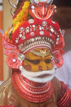 Theyyam artisit