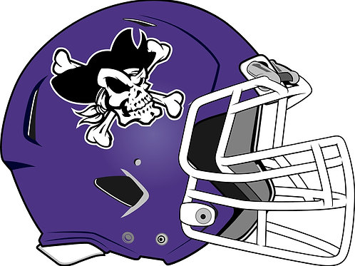 Merrillville Pirates Generic Helmet Car Decal