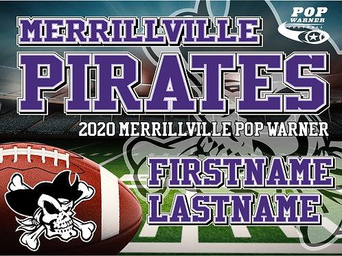 Merrillville Pirates Football Yard Sign