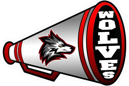 Jr Bulldogs Cheer Cone Yard Sign