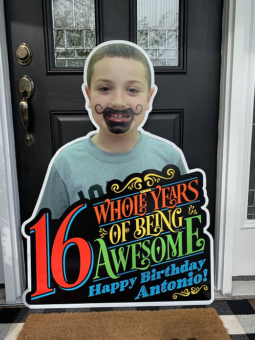 Large - Birthday 3'x4' Sign - Little Giant