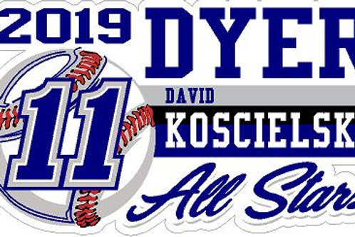 Dyer All Stars Car Decal