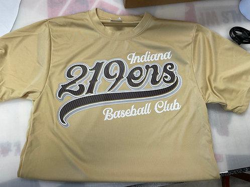 Gold 219ers Baseball Tshirt - YL