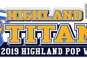 Highland Titans Football Car Decal