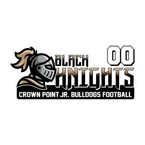 Jr Bulldogs Football Car Decal