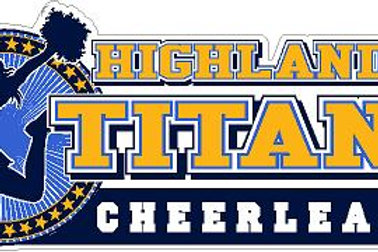 Highland Titans Cheer Car Decal