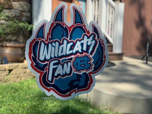 Wildcats Paw Yard Sign
