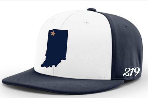 White-Navy State Cap w/ Player #