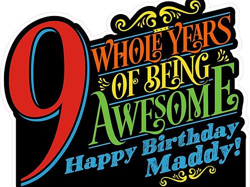 Medium - Birthday 2'x3' Yard Sign