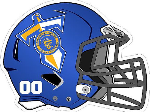 Highland Titans Football Helmet Yard Sign