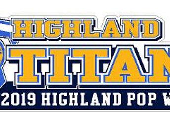 Highland Titans Generic Car Decal