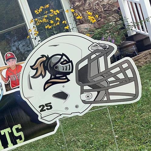 Jr Bulldogs Football Helmet Yard Sign