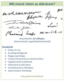 aláírás a grafológiába