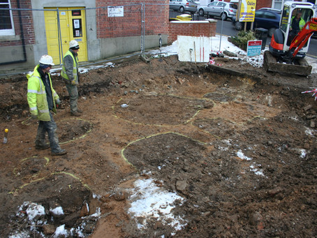 Important Medieval discoveries at East Street, Lewes, East Sussex.