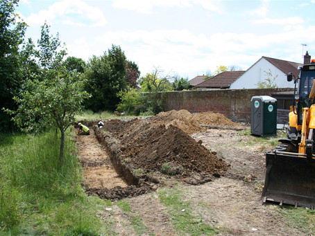 Medieval remains found in Manor Road, Lancing, West Sussex.