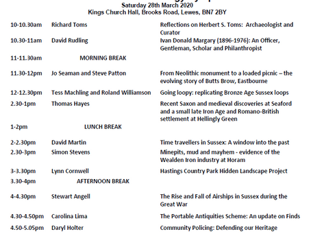 The Sussex Archaeology Symposium 2020 Line Up