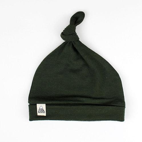 Mütze aus Merinowolle - grün