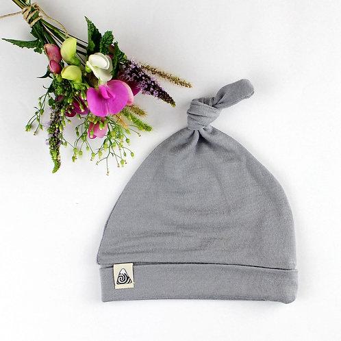 Mütze aus Merinowolle - grau