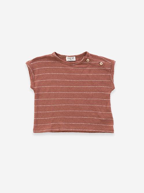 T-Shirt gestreift braunrot