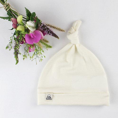 Mütze aus Merinowolle - vanille