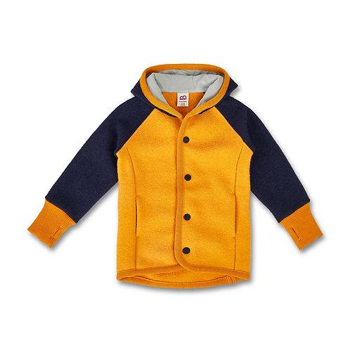Manitober Wollwalk Jacke - gelb/blau