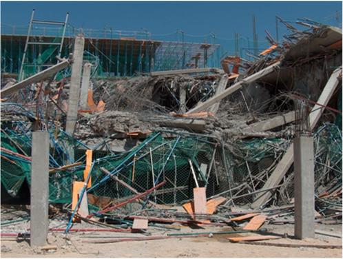 Hundimiento durante la construcción de un edificio