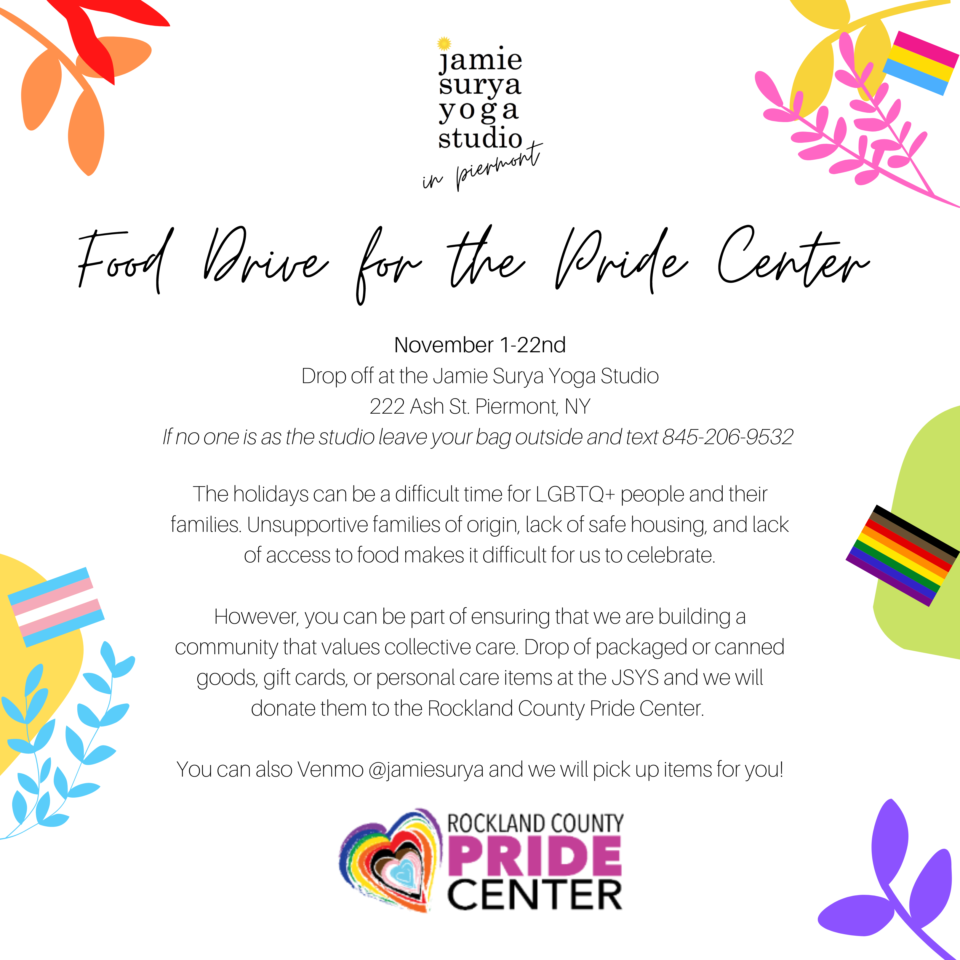 food drive for pride