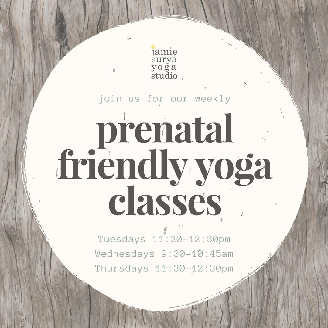 prenatal friendly yoga classes