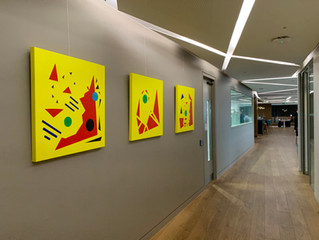 Artwork returns to EY Canary Wharf, London.