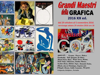 Invited to exhibit at the Grand Masters of Graphic in Turin