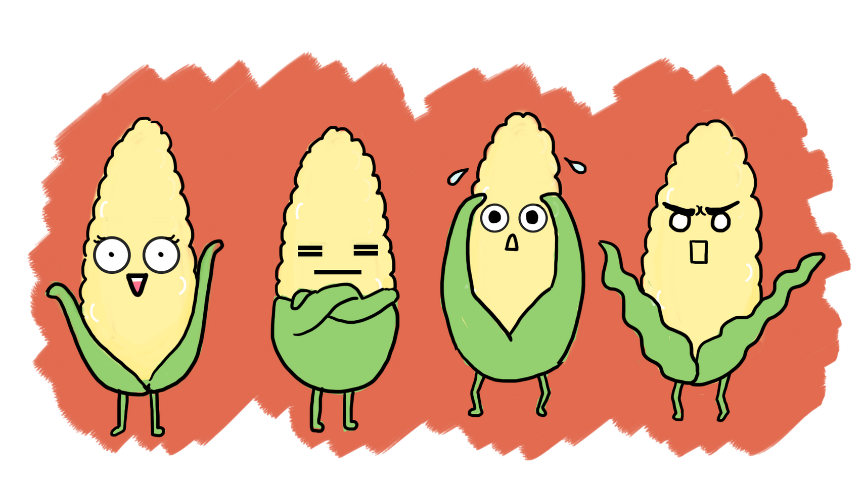 Corn Cob for 'The Married Life of Corn Cob and Sweet Potato' Short