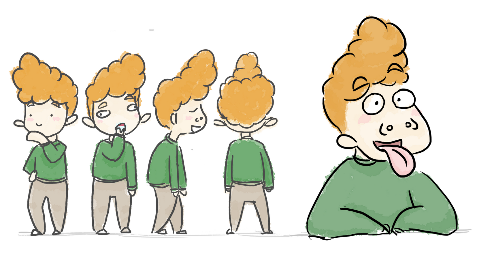 Main Character for 'Tip of the Tongue' Short