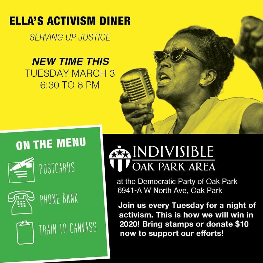 Ella's Activism Diner - Write Postcards to Wisconsin Voters