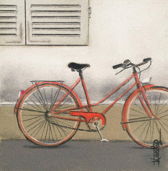 La bicyclette orange