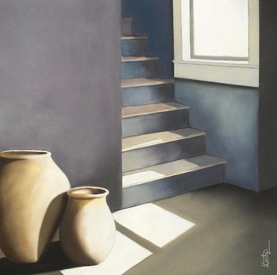 L'escalier bleu