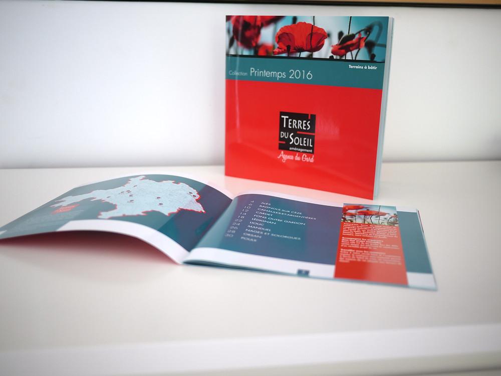 Nouveau catalogue Terres du Soleil par l'Atelier Vauban graphiste à Nîmes