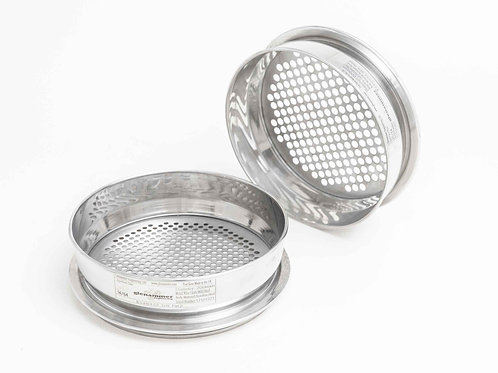 ISO/BS Standard 125.00mm - 11.20mm Round Hole Perforated Plate Test Sieve