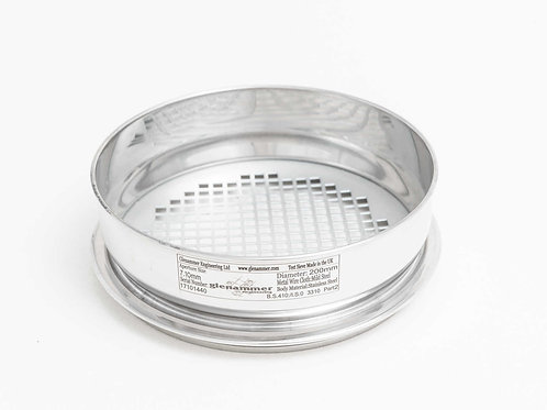 ISO/BS Standard 10.00mm - 4.00mm Square Hole Perforated Plate Test Sieve