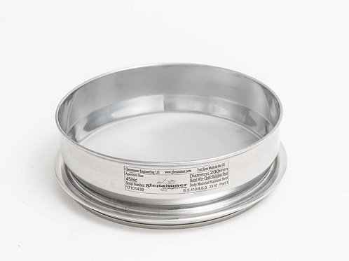 ISO/BS Standard 80µm - 20µm Woven Wire Test Sieve