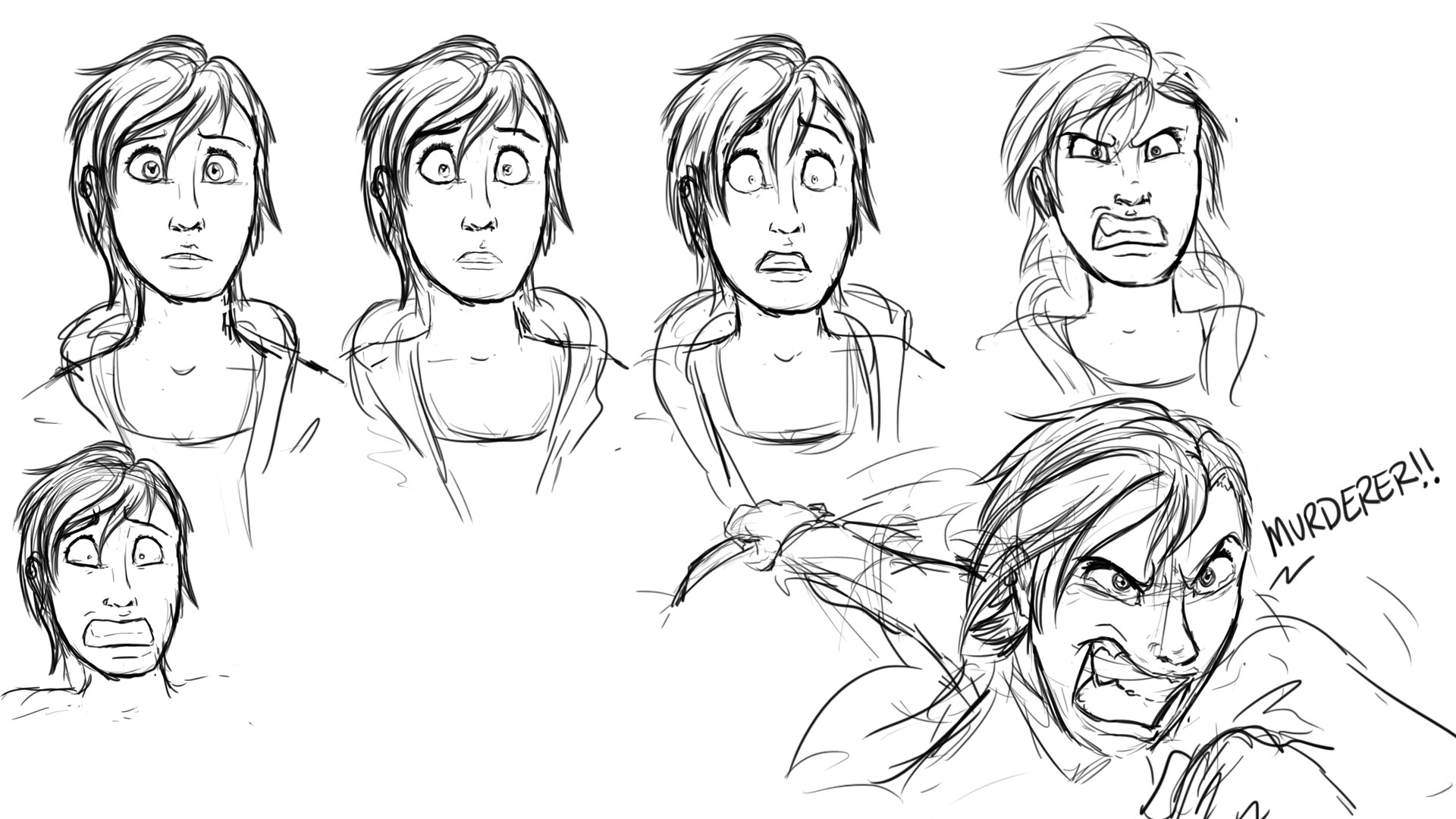 Sad Expression Progression