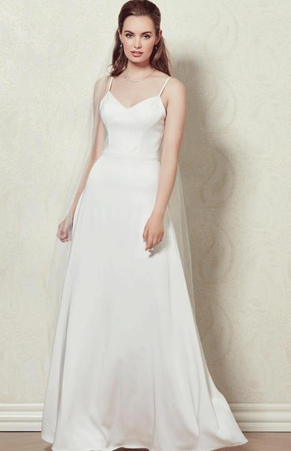 Robe de mariée à bretelle