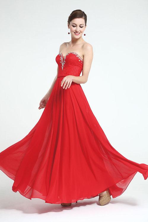 Robe longue de soirée rouge