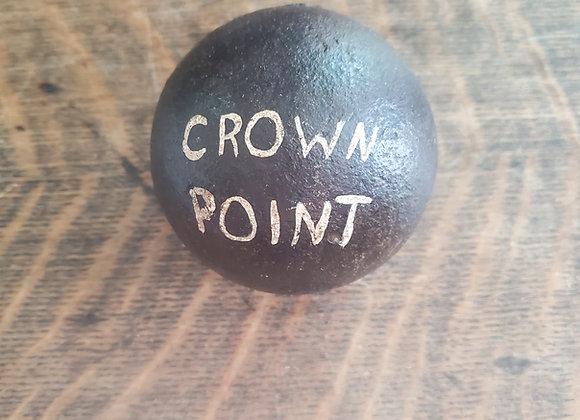 Revolutionary War 6lb. Cannon Ball Dug at Crown Point