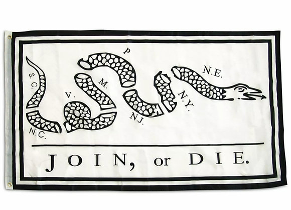 Join or Die Flag Revolutionary War Banner Benjamin Franklin Snake