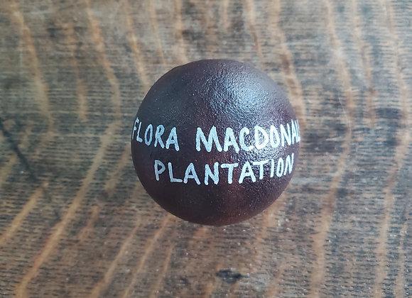 Revolutionary War 4 lb Cannon Ball found at the Flora Macdonald Plantation SC