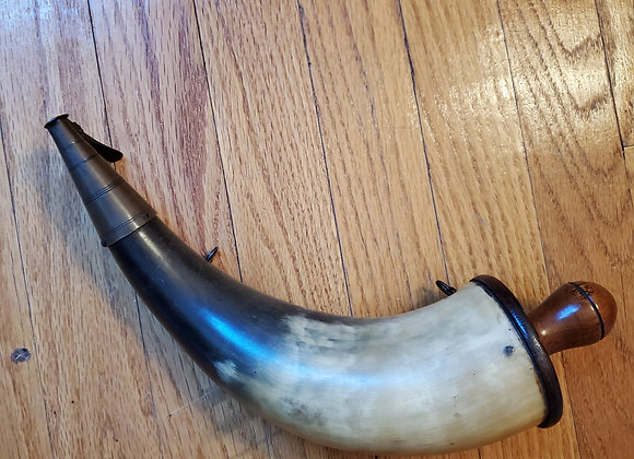 War of 1812 American of private purchase British Artillery Powder Horn