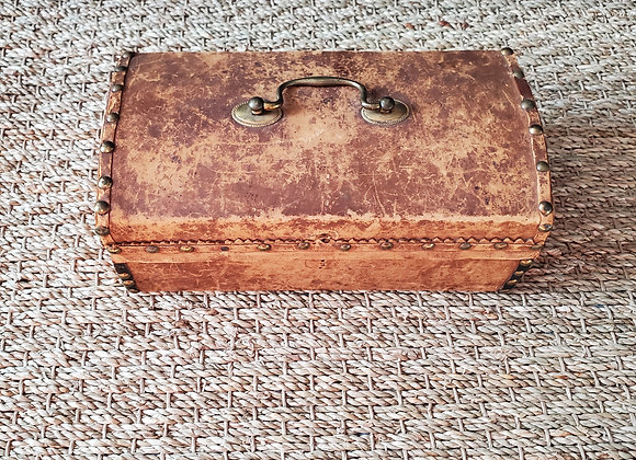 Revolutionary War era 18th c. Leather Covered Document Box